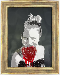 Girl with Red Lolly  37x47cm (incl. frame)