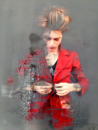 Button up the Red Jacket 75x100cm