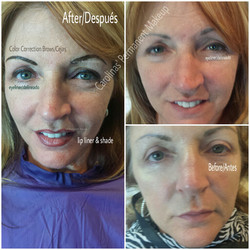 Eyebrow Correction, Lips & Eyeliner