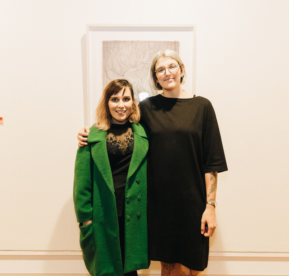 Laura Alice with curator Amber Smith