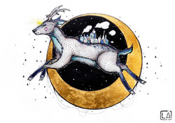 'Carried Through The Night' (deer)