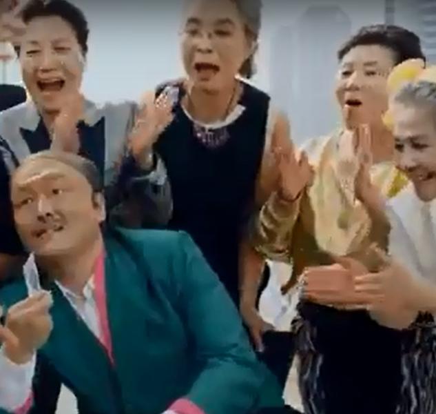 싸이뮤직비디오 대디 촬영