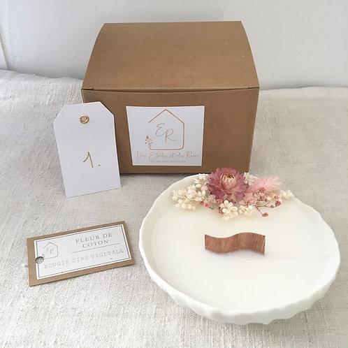 Bougie fleurie parfumée porcelaine 1