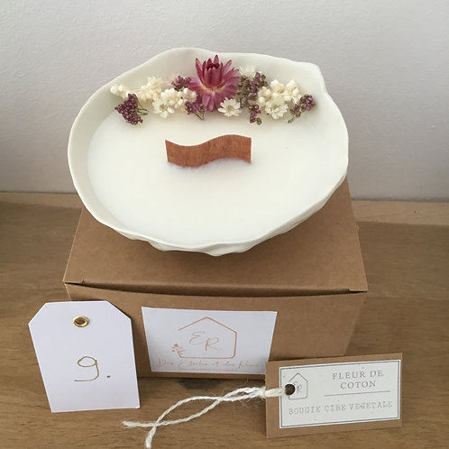 Bougie fleurie parfumée porcelaine 9