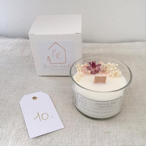 Bougie fleurie parfumée 10