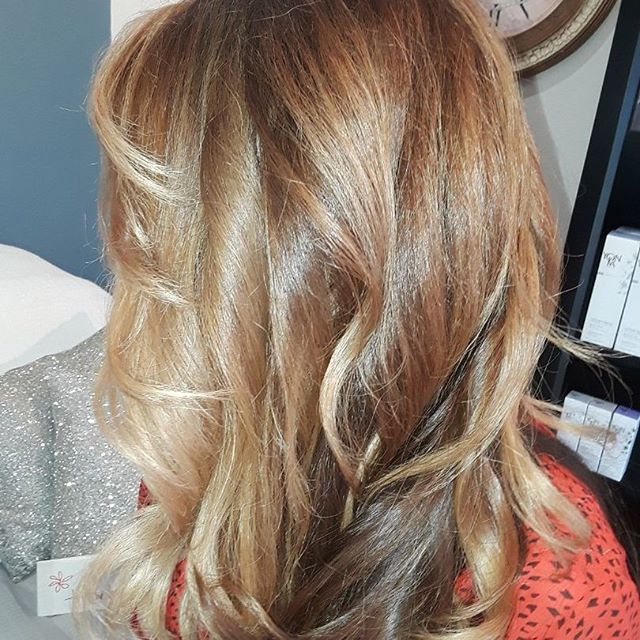 #blend #joico #olaplex #blonde #caramelbalayage