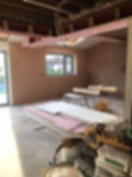 plaster board and skim interior