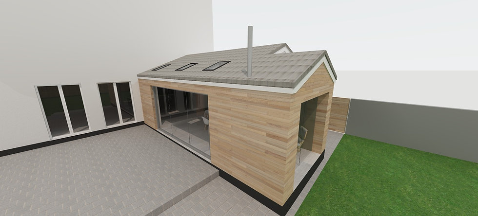 Contemporary Glass and Timber House Extension