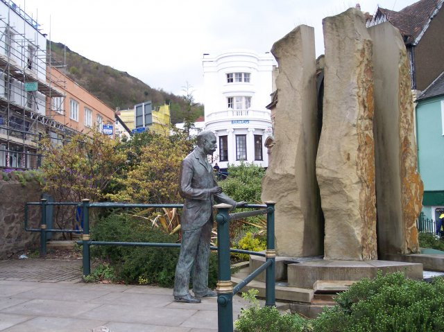 Sir Edward Elgar and the Enigma Fountain Worcestershire, England photo by Bob Embleton courtesy Wikimedia Commons