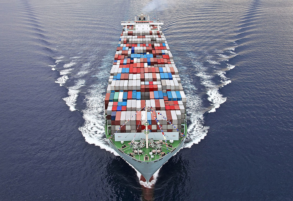U.S. Cargo ship loaded with exports: Photo from U.S. Congressional Budget Office web site