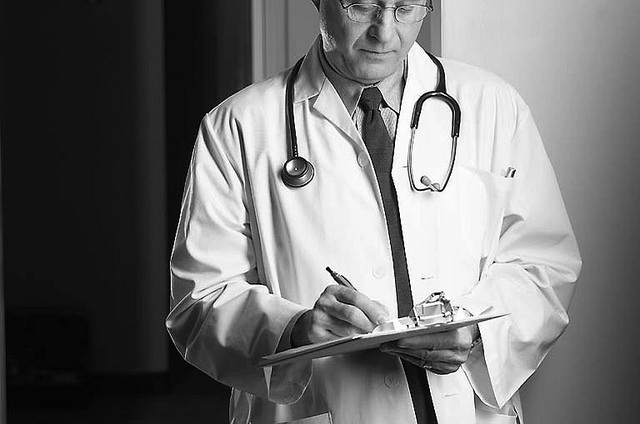 A doctor making his rounds in the American patchwork health care system.