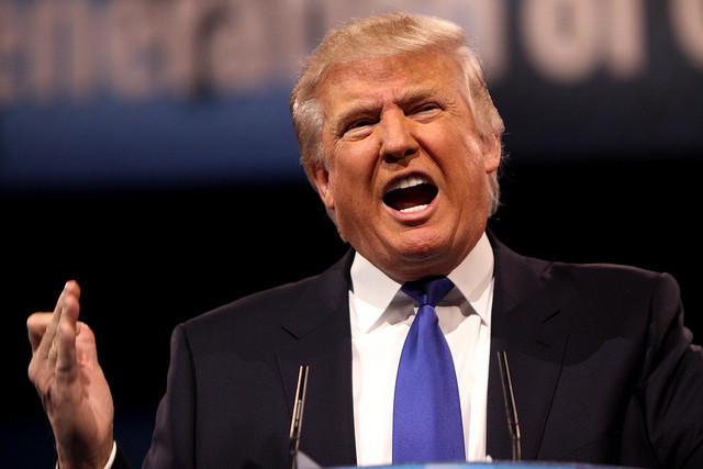 Donald Trump speaks, courtesy of flickr