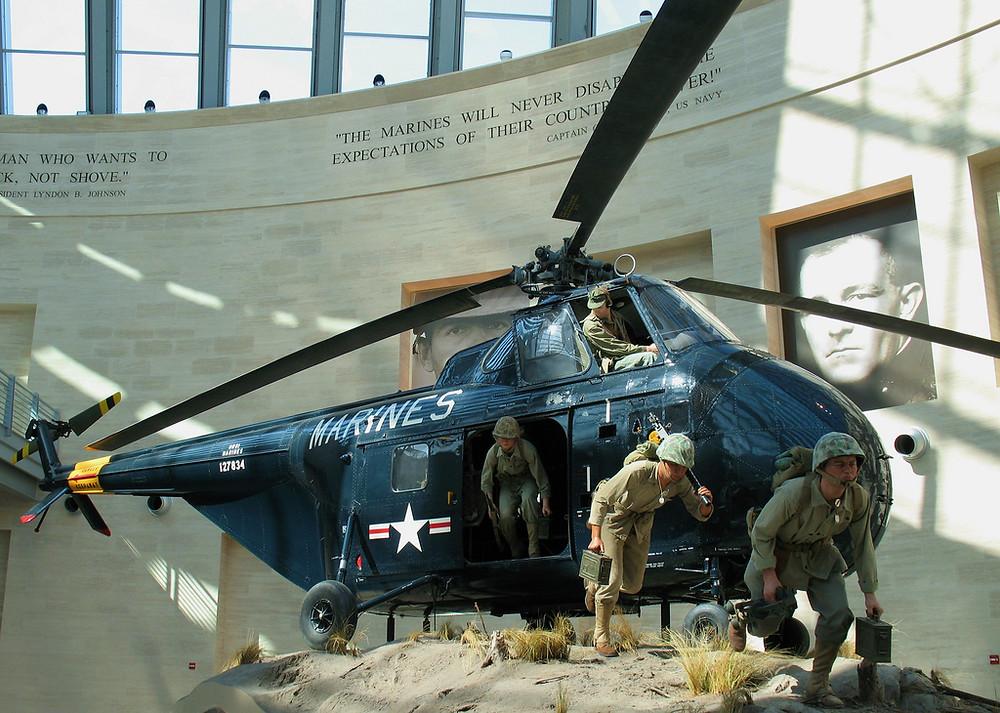 Exhibit at Marine Corps Museum, Triangle, VA