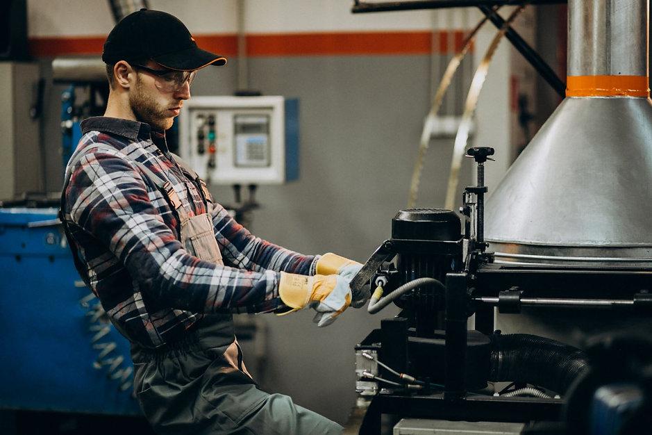 man-working-steel-fatory-equipment-steel
