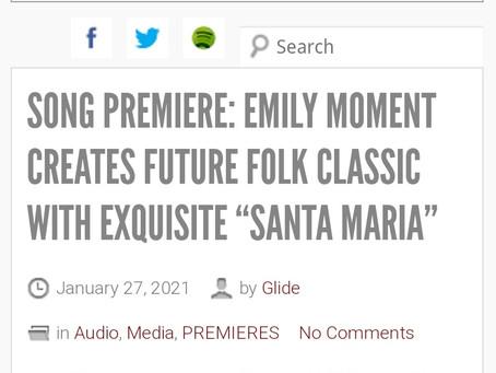 "SONG PREMIERE: EMILY MOMENT CREATES FUTURE FOLK CLASSIC WITH EXQUISITE ""SANTA MARIA"""