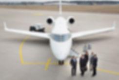 Passengers boarding Challenger 300