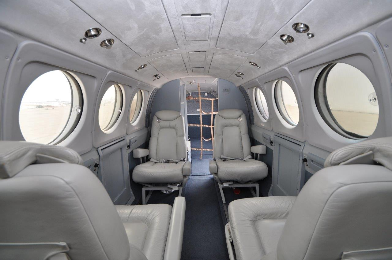 KingAir 200 interior aft facing