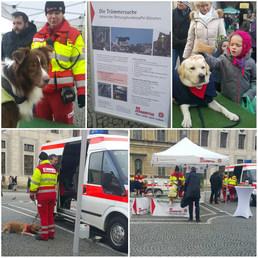 Sokakta dolaşırken karşılaştık. Ülkemizde yaşanan depremden de bildiğiniz Hayvan Kurtarma Ekibi...  Eğer sizin de insanlarla iyi anlaşan köpeğiniz var ise bu eğitime yollayabiliyormuşsunuz...