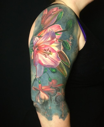 Colour Tattoo Flowers by Mario Gregor