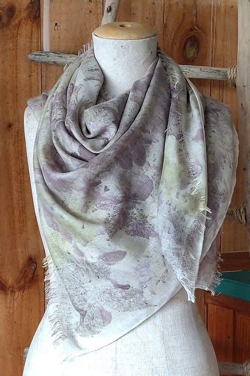 Climate Change Silk & Wool Scarf - Square