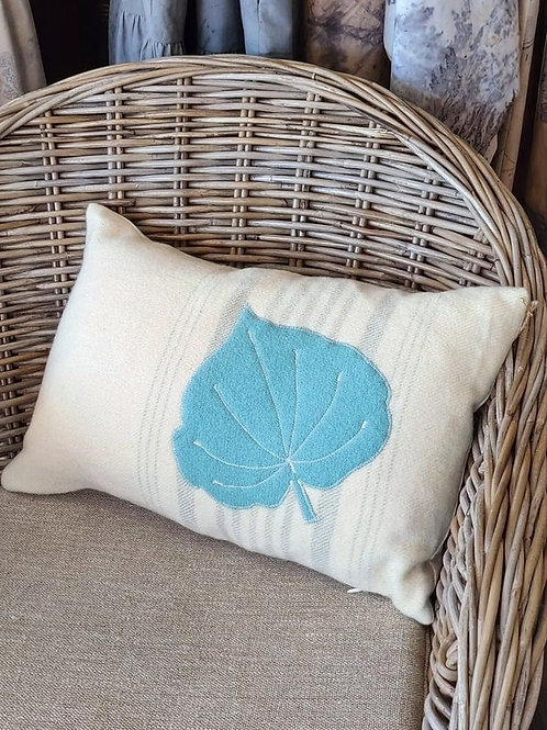 Appliqued Wool Cushion - rectangle