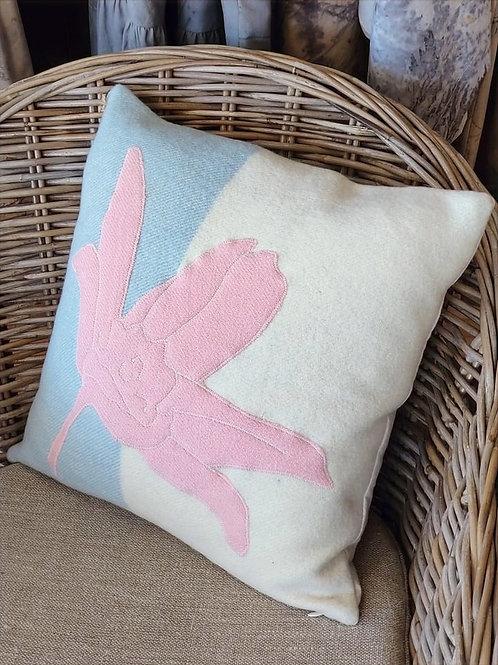Appliqued Wool Cushion - 40x40cm