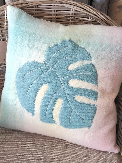 Appliqued Wool Cushion - 45x45cm