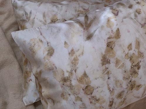 Silk Pillowcases - set of 2 - Ash & Silver Birch
