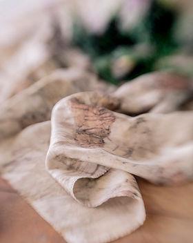 Eco-printed silk scarf at Perpetua Studio