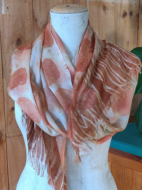 Climate Change Silk & Wool Scarf - Long - Silver Dollar