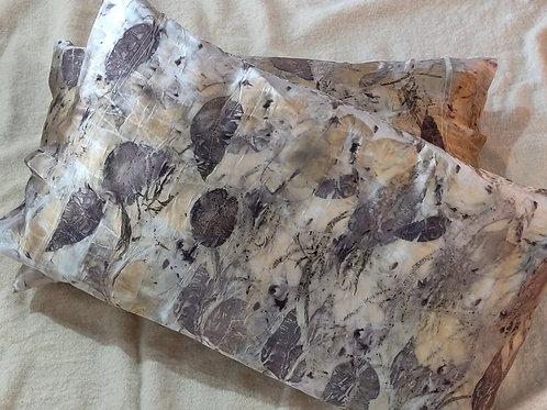 Silk Pillowcases - set of 2 - Eucalyptus Mix