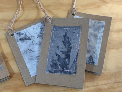 Eco-Print Gift Tags - Pack of 5