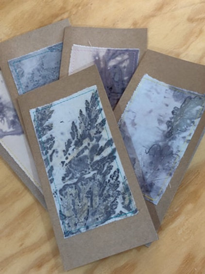 Eco-Print Greeting Cards - Pack of 5