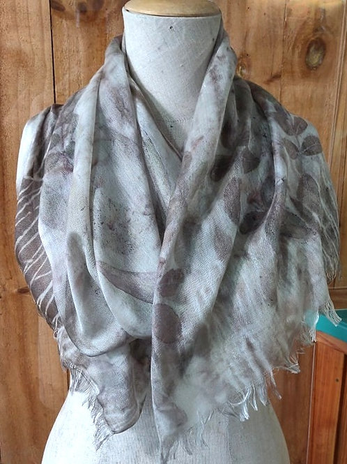Climate Change Silk & Wool Scarf - Long