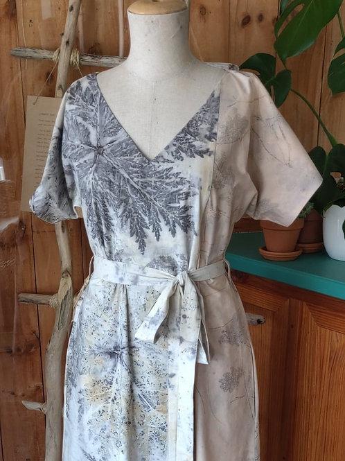 Eco-Print Panel Dress