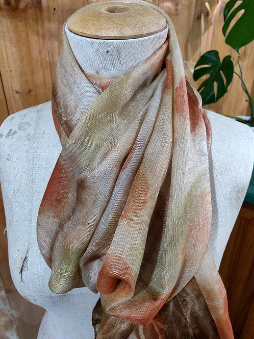 Climate Change Silk & Wool Scarf - Long - Mixed Eucalyptus
