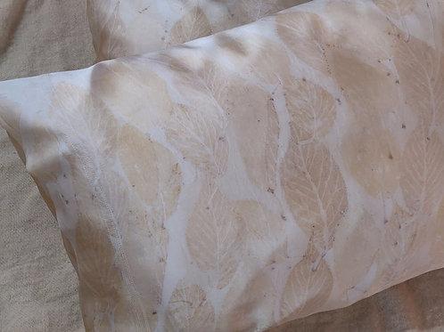 Silk Pillowcases - set of 2 - Cherry Leaves