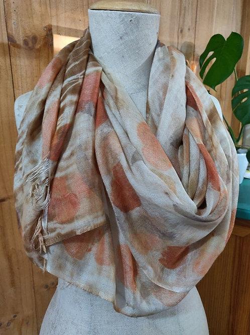 Climate Change Silk & Wool Scarf - Wide - Eucalypts