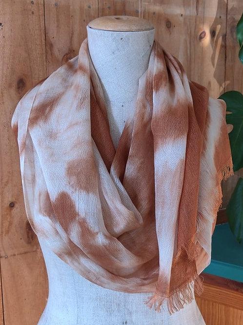 Climate Change Silk & Wool Scarf - Long - Shibori Stripe