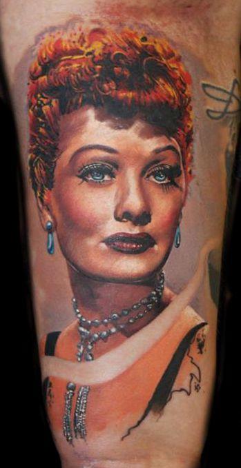 Lucille Ball Tattoo Portrait