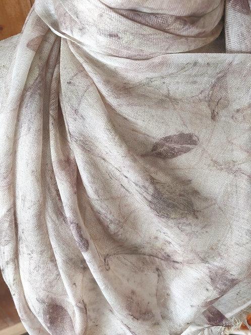Climate Change Silk & Wool Scarf - Narrow
