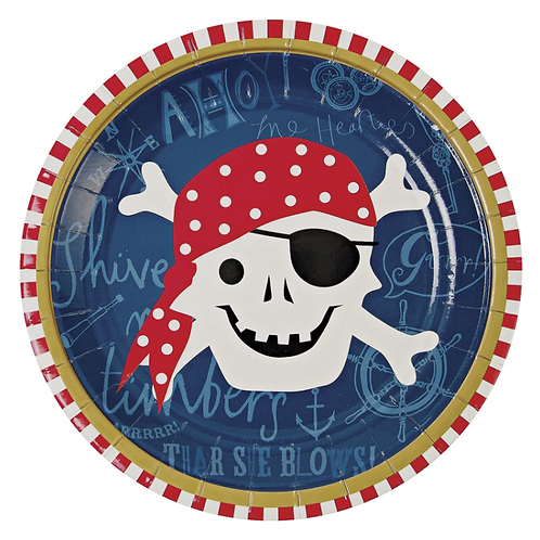 Petites assiettes Pirates meri meri (12x)