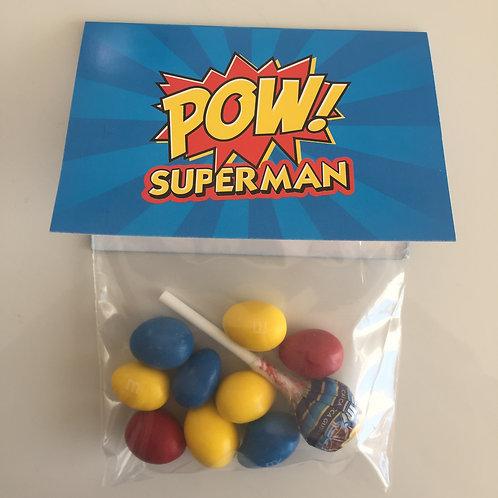 Sachets pour bonbons, Thème superhero