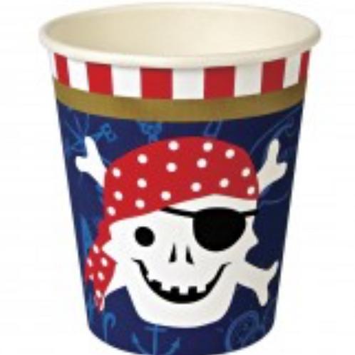 Gobelets Pirates meri meri (12x)