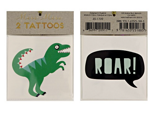 Tatouages meri meri Dinosaures
