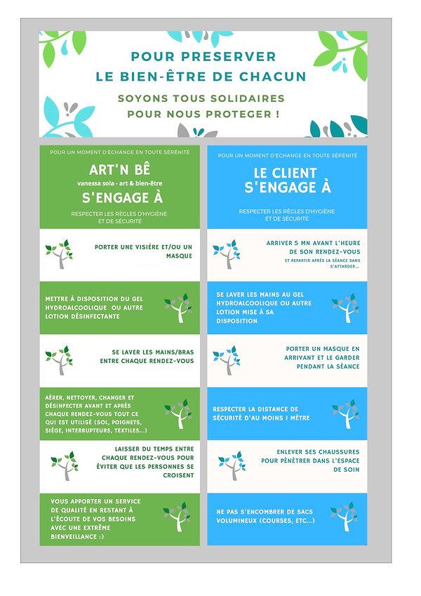 Règles d'Hygiène & Sécurité 2- ART'n Bê.