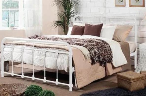 Chanel Bed Frame (White)