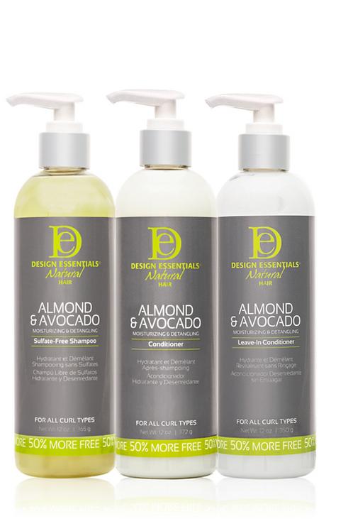 Almond & Avocado Shampoo, leaven, and conditioner