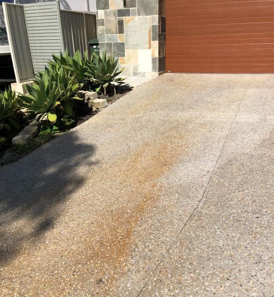 exposed aggregate cleaning