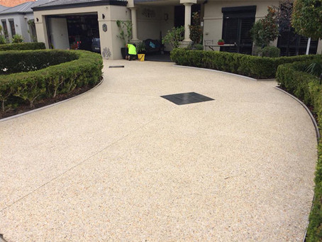 Removing Tough Bore Stains from an Exposed Aggregate Driveway or Patio